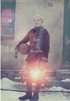 Rudy <3   He had hair the color of lemons...The Book Thief