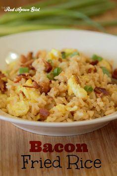 bacon fried rice- use cauliflower rice instead