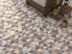 Zeshoekige tegels, bijzondere kleuren, gezellig patroon