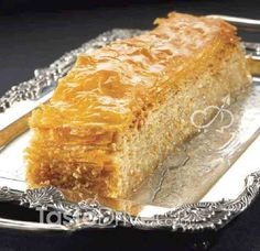 Greek Sweets, Greek Desserts, Greek Recipes, Desert Recipes, Vegan Desserts, Easy Desserts, Sweets Recipes, Baking Recipes, Baklava Recipe