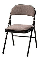 Meco 4-Pack Deluxe Fabric Padded Folding Chair, Cinnabar Frame and Corrin Fabric Seat and Back