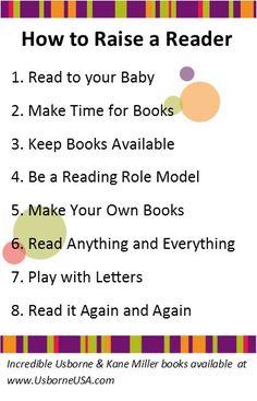 Raise a Reader tips from www.UsborneUSA.com facebook.com/UsborneUSA