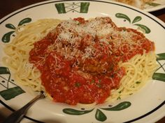 Spaghetti from Olive Garden - the BEST!