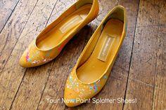 complete paint splattered heels