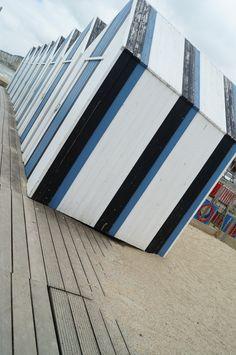 Stripey Beach Huts in Yport Northen France