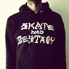 Skate and Destroy hoodie #Thrasher #Skateboarding #Skateboards