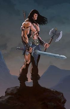 Conan The Barbarian, Fernando Merlo Comic Book Characters, Comic Character, Comic Books Art, Fantasy Characters, Comic Art, Fantasy Figures, Hq Marvel, Marvel Comics, Red Sonja