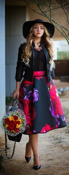 spring outfits with floral skirts 2 - 41 spring outfits with floral skirts