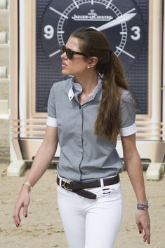 Charlotte Casiraghi - Global Champions Tour 2012 In Monte Carlo - Day 2