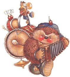 Naturally, hedgehogs are masters of the accordion...