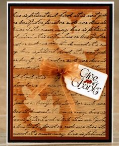 Gently Fallling by - Cards and Paper Crafts at Splitcoaststampers Fall Cards, Holiday Cards, Christmas Cards, Handmade Thanksgiving Cards, Leaf Cards, Card Tags, Greeting Card, Halloween Cards, Kids Cards