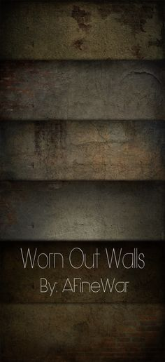 Worn Out Walls by =AFineWar on deviantART // Free Textures