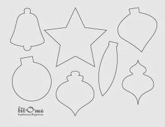 free printable felt christmas ornament templates patterns