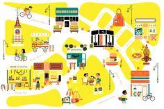 Studio Tipi • Voyage Magazine Auguest 2012 - Brixton Market Map