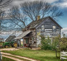 Rustic Fall Featured Images - Old Log Cabin  by Paul Freidlund