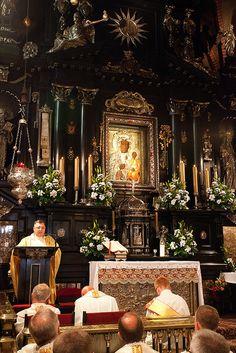 De zwarte Madonna in Częstochowa, bedevaartsoord, de Jasna Góra kloosterorde.