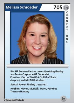 HR Business Partner currently seizing the day as a Senior Corporate HR Generalist, President-Elect of GWHRA (SHRM affiliate chapter), and NIU MBA student.