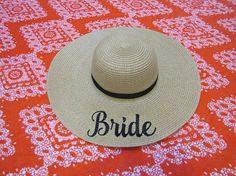Bride Embroidered Beach Hat Floppy Hat Girls Weekend