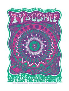 Psychedelic Ty Segall concert poster by Nathaniel Deas on Etsy, $20.00