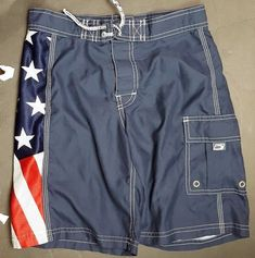 3ed5c54b6f Old Navy Boys Sz 10 Swim Trunks Board Shorts Bathing Suit Swimwear Patriotic