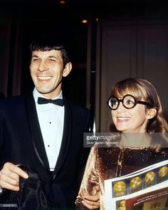 American actor Leonard Nimoy at an event with his wife, actress Sandra Zober (1927 - 2011), circa 1968.