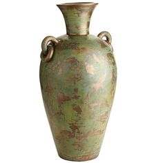 """Patina Floor Vase; maybe spray paint my """"snake charming"""" basket gold instead"""