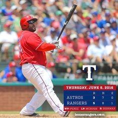 2016-06-09 Game 060 Houston Astros @ Texas Rangers