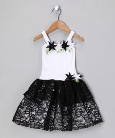 Take a look at this White & Black Tiffany Dress - Toddler & Girls on zulily today!