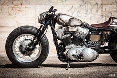 Old Iron: A cafe bobber Harley-Davidson Sportster custom from Germany.