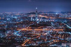 Seoul - Seoul skyline.  . . . follow: Website: http:/gijecho.com/ IG: https://www.instagram.com/gije_cho/