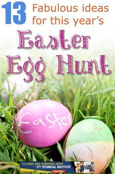 Easter fun:: easter egg hunt ideas, quick design idea