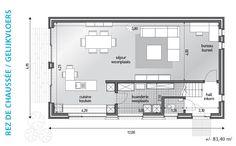grondplan moderne woning - Google zoeken