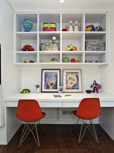 kids work space with toys