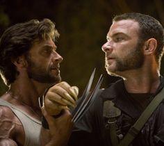 Still of Liev Schreiber and Hugh Jackman in X-Men Origins: Wolverine