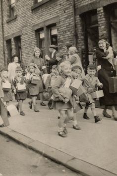 English Evacuees sent away from home to safety  My generation...we were known as War Babies.. It taught us compassion when we saw the Holocaust in film in our cinemas in 1945  What a shock it was to the whole world