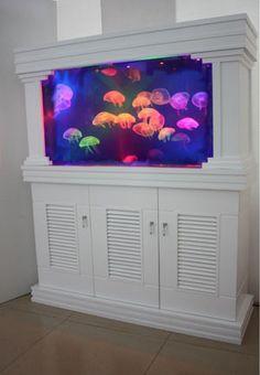 A Jellyfish tank. Bad ass