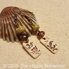 Rustic Bohemian Earrings  Rustic Earrings  by TheHippieBohemian