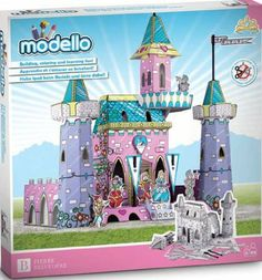 Color and build a Princess Castle. Sturdy cardboard model with plastic supports. Made by Modello by Modello. $39.99