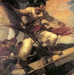 """Today is International Talk Like a Pirate Day! How be ye related t' Samuel """"Black Sam"""" Bellamy? Pirate Art, Pirate Life, Pirate Ships, William Kidd, Golden Age Of Piracy, History Page, Treasure Island, Dark Horse, Cape Cod"""