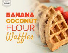 Banana Coconut Flour Waffles