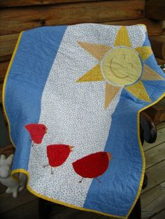 I like this simple quilt!