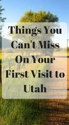 Things you can't miss on your first visit to Utah. Utah has some of the best adventures in the USA. From hiking some of the best hiking trails in the USA to scuba diving, Yes I know what your thinking scuba diving in Utah. Click to read the full list of p