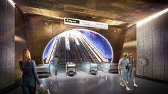 Nulty - London Underground Station Design Idiom - lIllumination Escalator Design Travel Light Sustainable Future