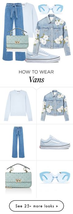 """march"" by mariaistr on Polyvore featuring Vince, Karen Walker, J Brand, Valentino, Vans, Rebecca Taylor and Blue"