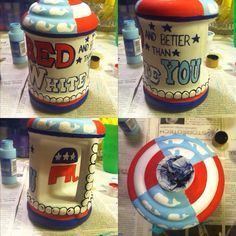 of the July American DIY Chug Jug. Sorority must. Fraternity Crafts, Cute Crafts, Diy Crafts, Cooler Connection, Bubba Keg, College Necessities, Good Quotes For Instagram, Broken Bottle, Delta Gamma