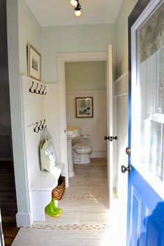 SoPo Cottage: The All Important Back Entrance - With Mud Room and Powder Room! Great ideas here