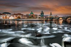Prague. Charles Bridge is in the background. I was lucky enough to have my tripod with me...