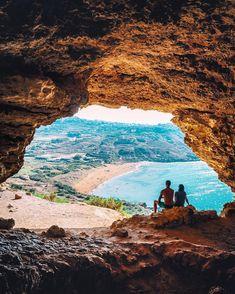 Calypso's Cave overlooking Ramla Bay in #Gozo #Malta.
