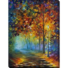 Leonid Afremov 'Fog Alley' Giclee Print Canvas Wall Art