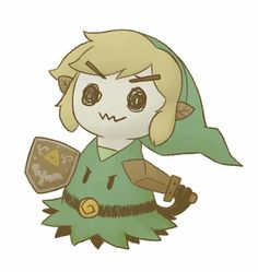 Mimikyu as Link from The Legend Of Zelda